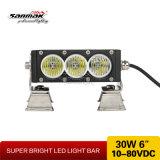 6 '' 30W barra ligera ambarina de la calidad LED para 4X4 campo a través