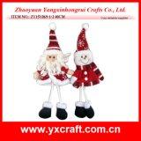 Item hecho punto copo de nieve de la Navidad de la decoración de la Navidad (ZY15Y074-1-2)