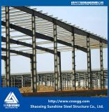 Oficina industrial da construção de aço do baixo custo com a instalação fácil