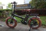 """20 """"脂肪質のタイヤが付いている電気自転車のマウンテンバイクを折る車輪48V 500W Fodable"""