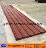Folha de aço galvanizada revestida cor do telhado com tipo do Trapezoid