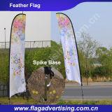 Bandeira portátil da pena do vôo da praia do poliéster da impressão de cor cheia
