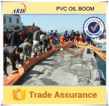 Boom do petróleo contínuo do PVC do flutuador da grande flutuabilidade da reserva