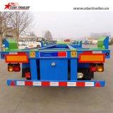 60-70ton配送コンテナセミトラックトレーラーヤードシャーシ