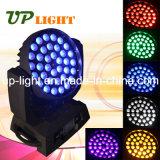 段階LEDの照明36PCS*18W Rgbwauv 6in1移動ヘッド