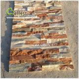 熱い販売St014n木の黄色い木製のスレートの石のベニヤ文化石