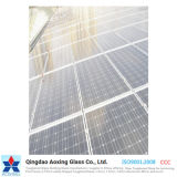 vidrio solar modelado hierro inferior de 4.0m m/vidrio Tempered