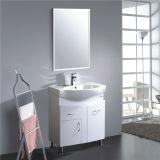 Pavimento all'ingrosso che si leva in piedi vanità della stanza da bagno del PVC con lo specchio