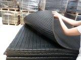 Matting de borracha ao ar livre ondulado da grade do anti do enxerto patim impermeável não