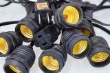Luzes da corda da decoração do partido com os soquetes E26 (L200.025.00)
