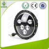 Linterna redonda de la pulgada alta-baja LED de la viga 7 con los ojos del ángel
