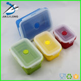 4 Satz (350ML, 540ML, 800ML, 1200ML) Elegant, Fashionable u. Stackable Container Eco Silicone Collapsible Lunch Bento Box