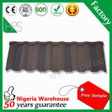 Tuile de toiture en acier enduite de pierre économique et favorable à l'environnement