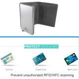 Protetor de couro do cartão da alta qualidade com a carteira do suporte de cartão