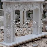 Camino bianco Mfp-114 di Carrara del camino del camino di pietra del camino di marmo del granito