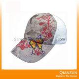 La gorra de béisbol de Embroiderey y de la impresión con su insignia