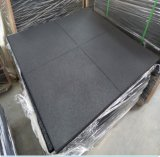 SBR telhas de assoalho pretas de 1m x de 1m para esportes da ginástica