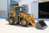 Carregador real da roda da máquina da construção de 2 toneladas para a venda