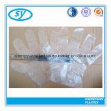 Guanti medici di plastica piegati a gettare del LDPE dell'HDPE