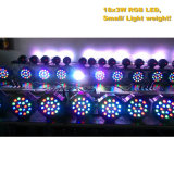 Plástico 18X3w RGB LED plana PAR luz
