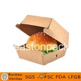 使い捨て可能なEcoの友好的なカスタムボール紙のペーパーハンバーガーボックス