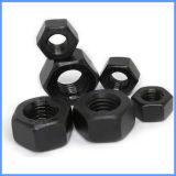 Tuerca Hex negra del acero de carbón del color con alta calidad