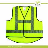 Kundenspezifische Mann-Ineinander greifen-hohe Sicht-reflektierende Sicherheits-Weste (KY-V011)