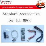 Mobile Car DVR - 4CH 720p 3G, 4G, GPS, Wi-Fi Função para Opcional