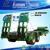 트레일러 Manufacturer Sale를 위한 무겁 의무 Ramp를 가진 2/3/4/5 Axles 50-120 Tons Low Flatbed Bed Truck Trailer