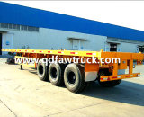 40FTの平面の容器のトラック、半トレーラー、半トレーラーの平面