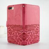 Casos de la cubierta del tirón de la carpeta para el caso de cuero más del iPhone 7 de Apple