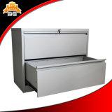 Bater para baixo do ficheiro colorido da gaveta do metal 2 do escritório o gabinete de armazenamento lateral de aço do arquivo