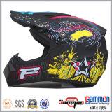 Шлем Motorcross МНОГОТОЧИЯ холодный желтый с надписью на стенах (CR403)