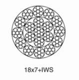 선형 접촉 비 자전 철강선 밧줄 18*7+Iws