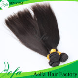 中国の工場高品質の自然なバージンの人間のインドの毛のよこ糸