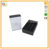 Caixa de presente de papelão preto de alta qualidade personalizada