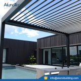 Pergola mit elektrisches mit Luftschlitzendach-geöffnetem Dach-System