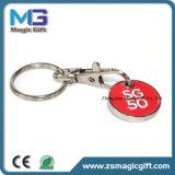 Heiße Verkäufe passten preiswerte Decklack-Laufkatze Keychain an