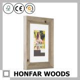 Rustikaler schäbiger festes Holz-Abbildung-Foto-Rahmen für Tischplattendekoration