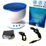 Lumière bleue de nuit d'onde de Daren d'océan avec le haut-parleur