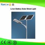 lumière 40W solaire pour la route de campagne avec la batterie au lithium solaire de réverbère