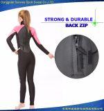 女性の完全なスーツのCrのグライドの皮の商業ダイビングのウェットスーツ