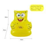 子供のための漫画デザインPVC膨脹可能で黄色いソファー