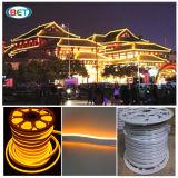 12V, 24V, 110V & 220V 편평한 사각 LED 네온 밧줄 빛