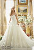 Выполнено на заказ с крышки плеча Sleeves мантия венчания платья венчания длины пола (Dream-100089)
