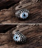 Ancient Mayan Demon Eye 316L Steel Europe Jewelry Casting Ring