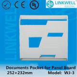 ABS倍テープ(WJ-2)が付いているプラスチックRal7035文書のポケットは味方した