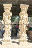 Coluna da estátua de mármore
