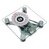 150kg 8mmの正方形のガラスプラットホームのアナログのBobyの健康の体重計