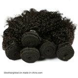 Het zwarte Weefsel van het Menselijke Haar van de Krul van de Kleur Kroezige voor Zwarten
